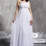 Strapless Chiffon Summer Wedding Dress by Jovani