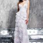 Long One Shoulder Summer Wedding Dress 2010
