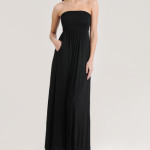 Strapless Maxi Summer Dress 2010 in Black