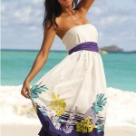 Short Strapless Summer Dress 2010 in White
