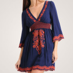 Embroidered Short Summer Dress 2010 in Dark Blue