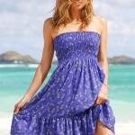 Blue Strapless Summer Dress 2010