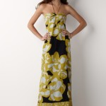 Long Black Yellow Summer Dress 2010