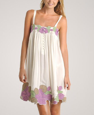 Short White Dress on White Summer Dresses 2010  Flower Patch White Summer Dress 2010