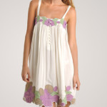 Flower Patch White Summer Dress 2010