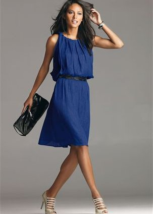 Deep Blue Summer Dress 2010