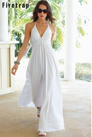 Size White Dress on White Summer Dresses 2010  Halter White Maxi Summer Dress 2010