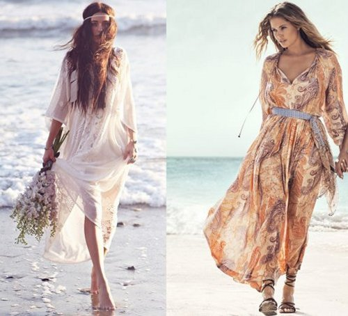 bohemian style long summer dresses