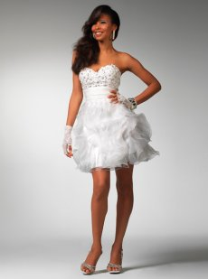 Top 3 White Prom Dresses 2011