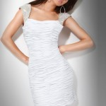 White Summer Cocktail Dress 2011