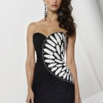 Strapless Black White Summer Dress 2011