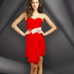 Red Strapless Short Summer Dress 2011