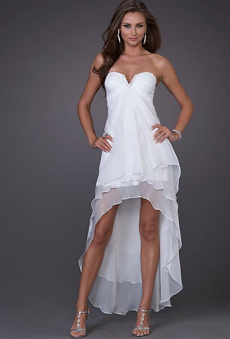 high low summer wedding dress 2011