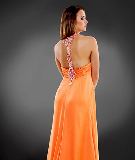 orange plus size summer dress 2011