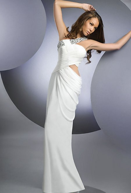 sexy white summer wedding dress 2011