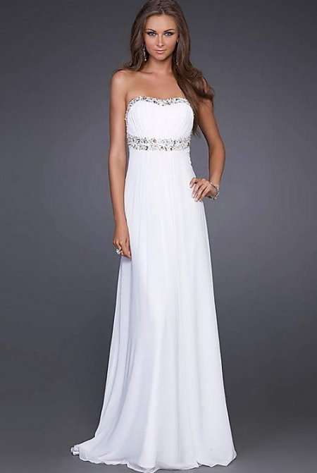 long strapless summer wedding dresses 2011