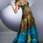 Long Chocolate Blue Summer Dress 2011