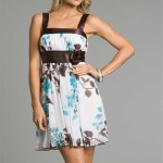Short Brown Aqua Summer Dresses 2011