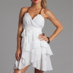 Cute White Layered Summer Dresses 2011