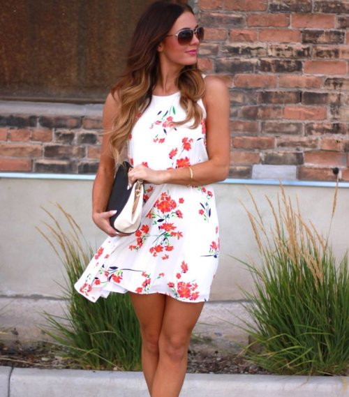 cute white floral summer dresses