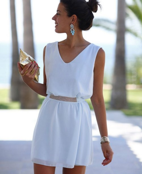 cute short white summer dresses