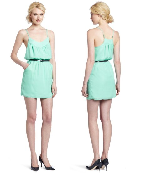 short mint summer dress 2012