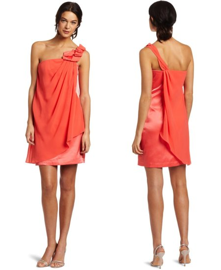 short orange summer dress 2012