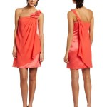 Formal Orange Summer Dress 2012