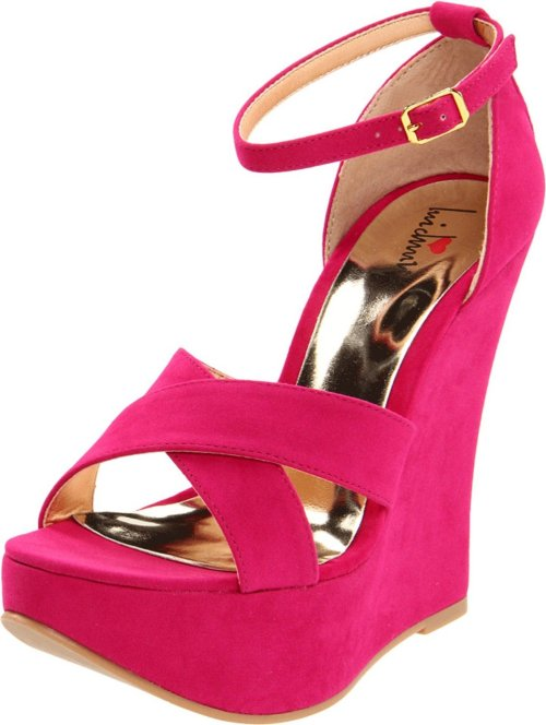 hot pink summer wedge shoes 2013 Luichiny