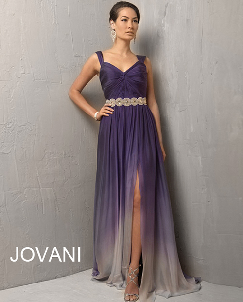 long purple ombre mother of the groom summer dress 2013
