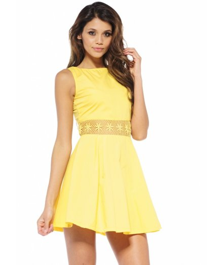 cute short yellow skater sundress 2013