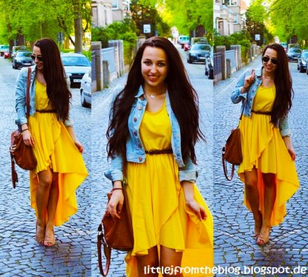high low yellow summer dresses 2013 styling