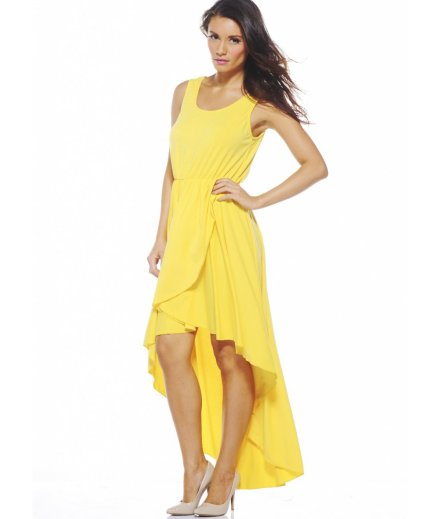 high low yellow summer dresses 2013