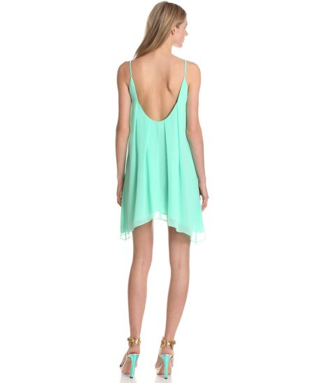 flowy mint summer dress 2013 with low back