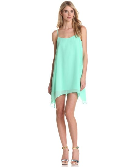 flowy mint with low back summer dress 2013