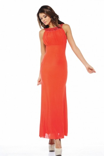 backless orange summer dresses 2013
