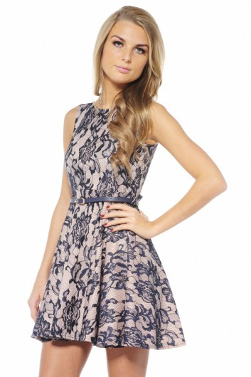 bonded lace skater summer dress 2013