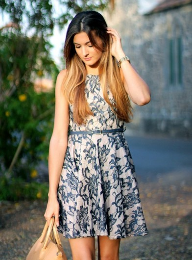 styling lace skater summer dress 2013