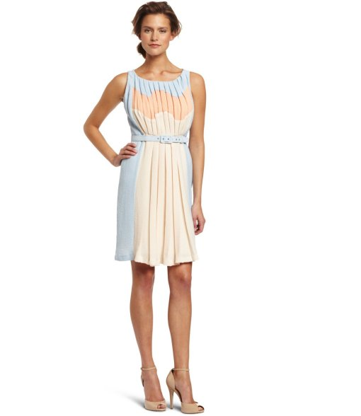 blue colorblock Eva Franco summer dress 2013