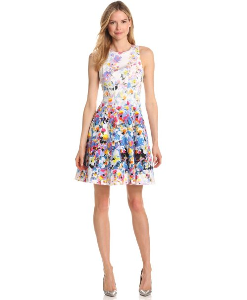 Cute Floral Fit & Flare Summer Dress 2013