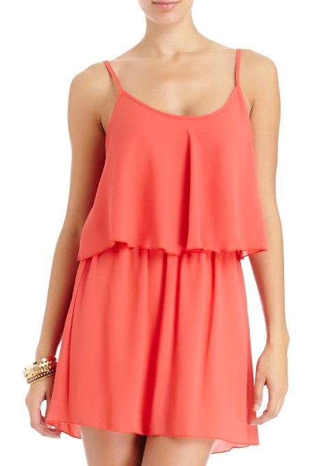 cute short orange summer dress 2014