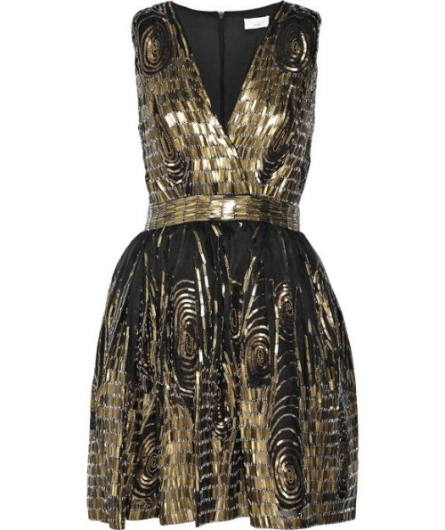 black and gold summer cocktail dress 2014