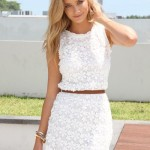 Stunning White Lace Summer Dress 2014