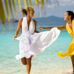 White & Yellow Beach Summer Dresses 2014