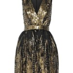 Black & Gold Summer Cocktail Dress 2014