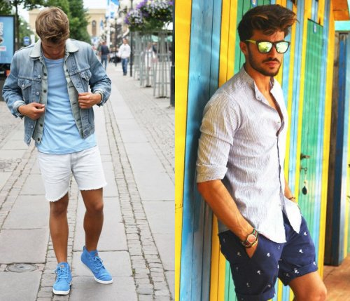 summer mens dark blue and white short 2014