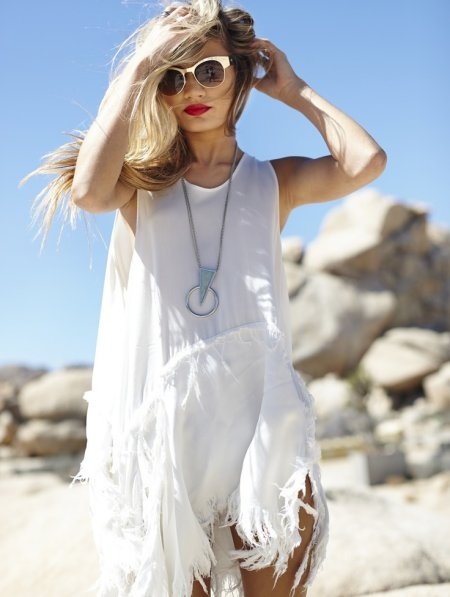white summer boho dress 2014