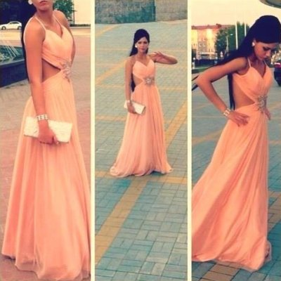 Cute Peach Summer Dresses 2014