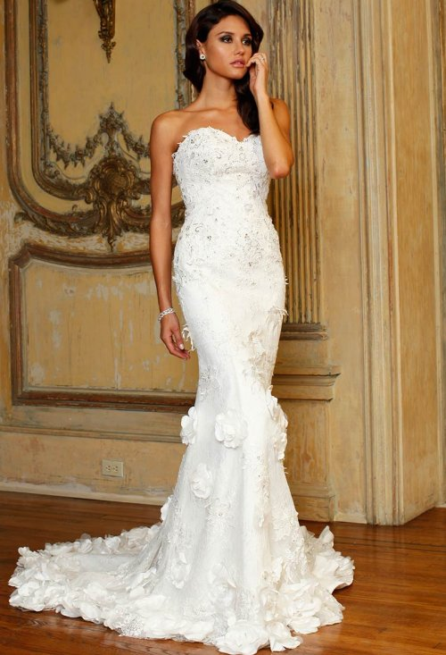 mermaid jovani summer wedding dress