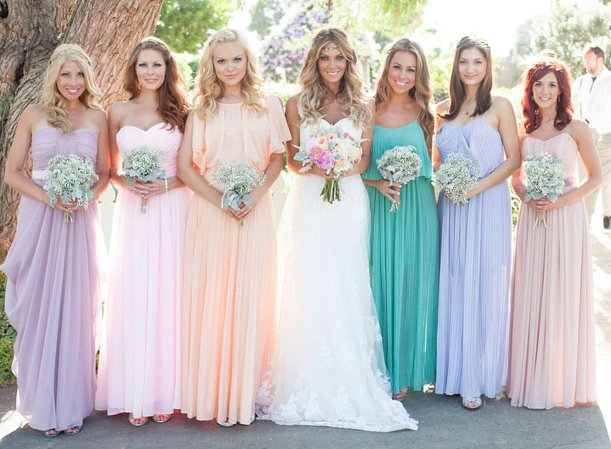 pastel bridesmaids summer dresses
